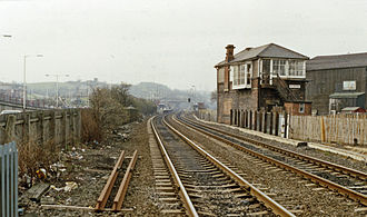 Blaydon railway station - View in 1989