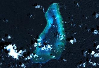 Blenheim Reef - Blenheim Reef. Landsat picture