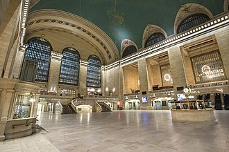 New York Central Railroad - The main concourse of Grand Central Terminal, New York Central's most notable landmark