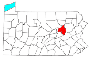 Bloomsburg–Berwick metropolitan area - Location of the Bloomsburg-Berwick Metropolitan Statistical Area in Pennsylvania