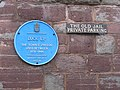 Blue Plaque on The Old Jail, Ross-on-Wye - geograph.org.uk - 659932.jpg