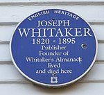 Blue Plaque on The White House, Silver Street, Enfield - geograph.org.uk - 1085780.jpg