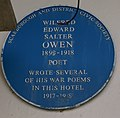 Blue Plaque to Wilfred Owen on Clifton Hotel (geograph 3756465).jpg