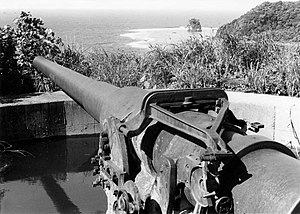 Pago Pago - Guns were emplaced at Blunt's- and Braker's Points in 1940–42, covering Pago Pago Harbor.