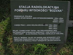 Bożena radiolocation station at the Muzeum Polskiej Techniki Wojskowej in Warsaw (5).JPG