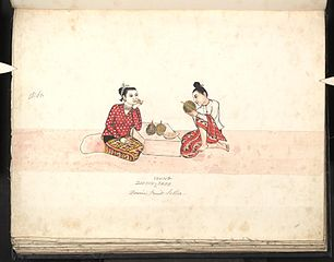 Dooyin-young-thee. Burmese fruit-seller