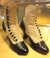 Boots worn by Judy Garland in The Harvey Girls, 1945 - Bata Shoe Museum - DSC00345.JPG