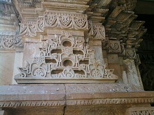Baroli Temples - A typical architectural feature in the temples of the complex