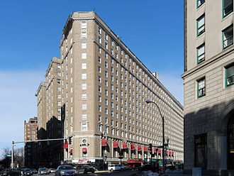 University of Massachusetts Boston - The Boston Park Plaza Hotel & Towers was renamed so in 1976. From 1927 until 1954, it was known as the Hotel Statler Boston, and from 1954 until 1976, as The Statler Hilton Boston. In February 1966, the Massachusetts General Court appropriated funds for UMass Boston to lease part of the building for faculty and departmental office space.
