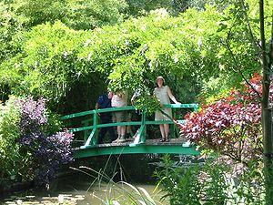 Bridge in Monet's gardens in Giverny