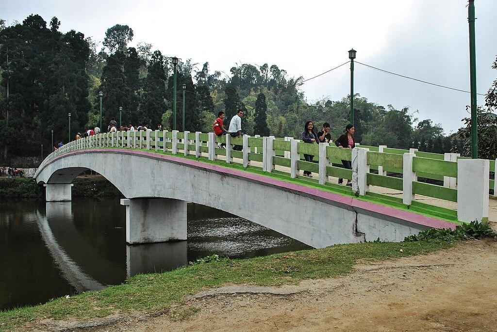 Bridge over Sumendu Lake