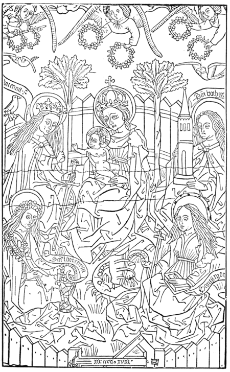 THE VIRGIN WITH FOUR SAINTS In the Bibliothèque Royale de Belgique