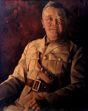 Vicente Lim - Portrait of Brigadier General Vicente Lim by Vicente Manansala