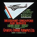 Brisbane-Singapore air service (DH 86) advertisement, ca. 1935 - H.B. Green and Co. (3532443184).jpg