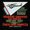 Brisbane-Singapore air service (DH 86) advertisement, ca. 1935 - H.B. Green and Co. (3532443184).jpg