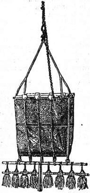Marine biology dredge - A shallow-water dredge from the 1870s Challenger expedition
