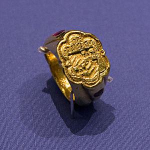 Jean III de Grailly, captal de Buch - Image: Britmusdegraillysign etring