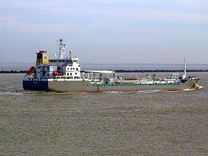 Bro Sincero p6 approaching Port of Rotterdam, Holland 08-Mar-2007.jpg