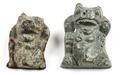 Bronsfötter till kärl i form av björnar - Hallwylska museet - 100126.tif