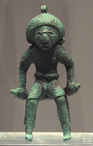 Dong Son culture - Bronze figurine, Dong Son culture, from what is now Thailand