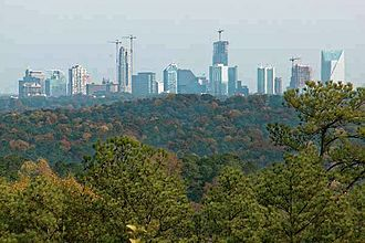 Buckhead - Buckhead skyline, seen from the west