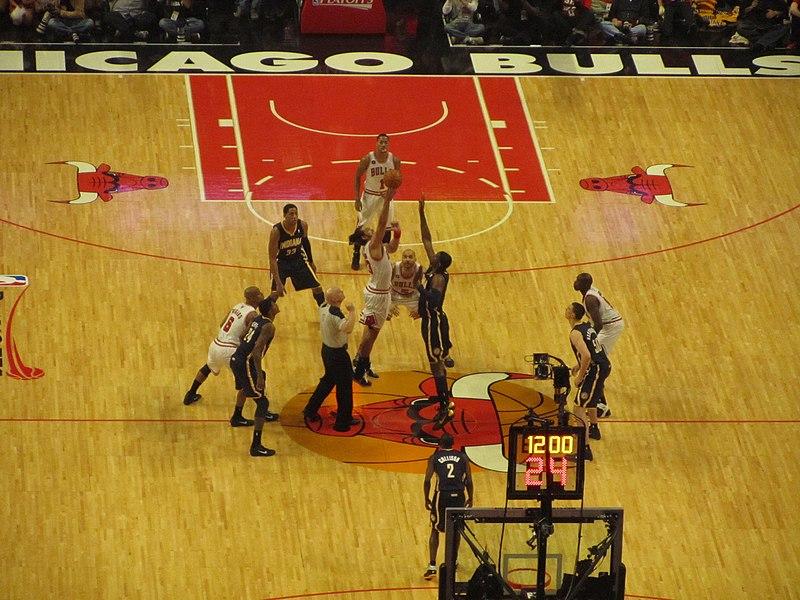 File:Bulls Pacers 2011 playoffs game 1 jump ball.jpg