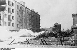 28/32 cm Nebelwerfer 41 - Image: Bundesarchiv Bild 101I 696 0426 18, Warschauer Aufstand, Raketenwerfer Einsatz
