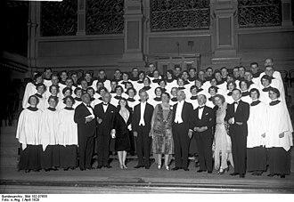 Westminster Choir College - Dayton-Westminster-Choir at Berliner Philharmonie in 1929