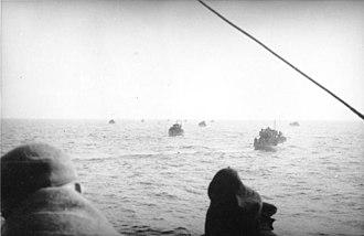 Operation Hannibal - Evacuation boats crossing the Baltic Sea