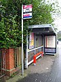 Bus stop and shelter, Malone Road Belfast - geograph.org.uk - 714730.jpg