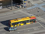Buses seen from Christiansborg Palace 07.JPG
