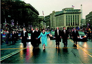 First inauguration of George W. Bush - Image: Bushes parade January 20, 2001