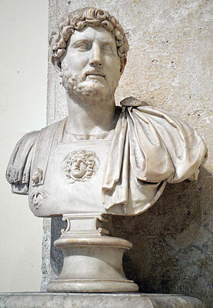 Demography of the Roman Empire - Image: Bust of Hadrian in the Musei Capitolini MC817