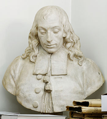 Bust of Blaise Pascal.