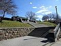 Bx Boro Hall 3rd Av stair jeh.jpg