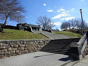 Bronx Borough Hall - Grand Staircase, seen from Third Avenue