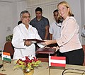 C.P. Joshi and the Federal Minister of Transport, Innovation and Technology, Austria.jpg