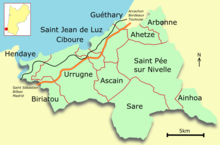 carte de france urrugne
