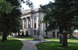 National Register of Historic Places listings in Codington County, South Dakota - Image: CODINGTON COUNTY COURTHOUSE, WATERTOWN, SD