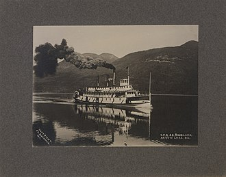 Steamboats of the Arrow Lakes - CPR SS Rossland, Arrow Lake, 1911