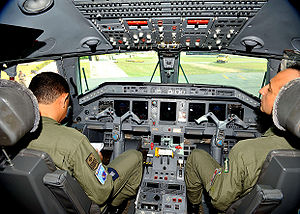 Embraer R-99 - Cockpit of a R-99 airplane of the Brazilian Air Force