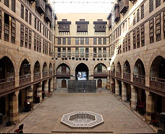Wikala of Al-Ghuri - Wikala of al-Ghuri, central courtyard.