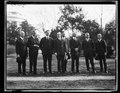 Calvin Coolidge and group outside White House, Washington, D.C. LCCN2016892832.tif