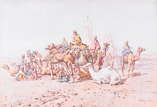 Camel Caravan at Rest