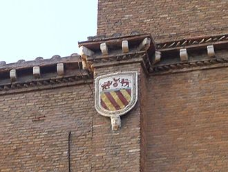 Savelli family - The Coat of Arms of the Savelli over a wall of the church of Santa Maria in Aracoeli, Rome.