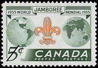 8th World Scout Jamboree - The Jamboree was heralded by a commemorative stamp issued in 1955.