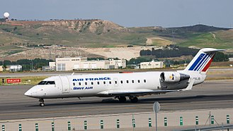 Brit Air - A Brit Air Bombardier CRJ100 at Madrid-Barajas Airport (2006).