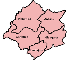 Communes of Cankuzo Province
