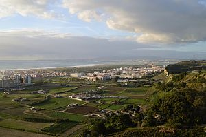 Panoramic view of Caparica coast