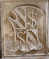 Cappella degli angeli o di isotta, putti festanti di agostino di duccio 00,2 stemma sigismondo malatesta.jpg